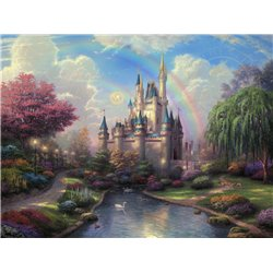 Thomas Kinkade A New Day- Cinderella