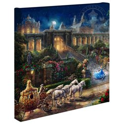 Thomas Kinkade Clock Strikes Midnight - Cinderella