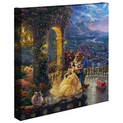 Thomas Kinkade Canvas Dancing in the Moonlight - Beauty & the Beast