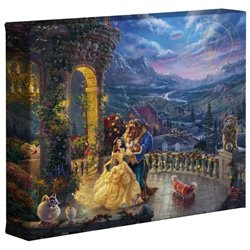 Thomas Kinkade Dancing in the Moonlight - Beauty & the Beast