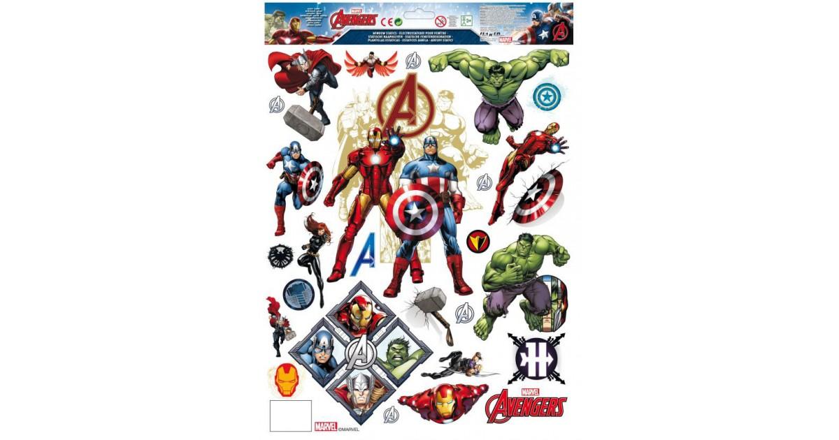 Raamstickers kerst  42x30cm - Avengers