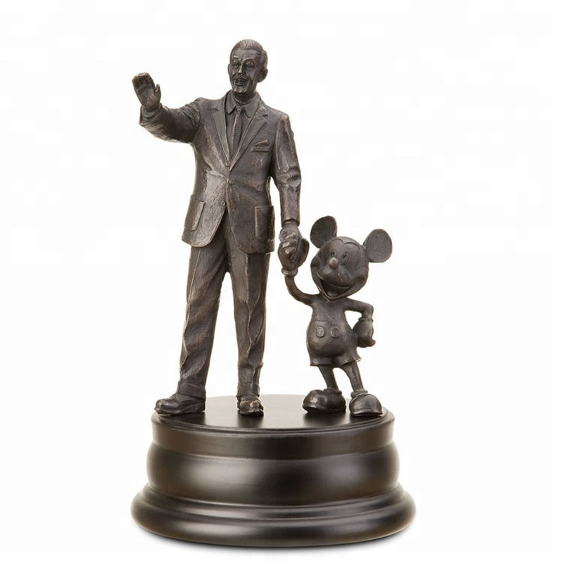 Partners Pewter - Walt & Mickey