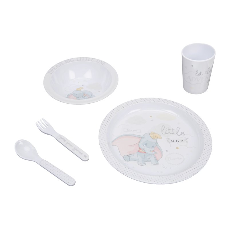 Magical Beginnings 5 Piece Melamine Crockery Set - Dumbo
