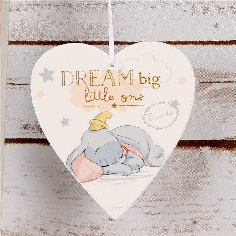 Magical Beginnings Heart Plaque 'Dream Big' - Dumbo