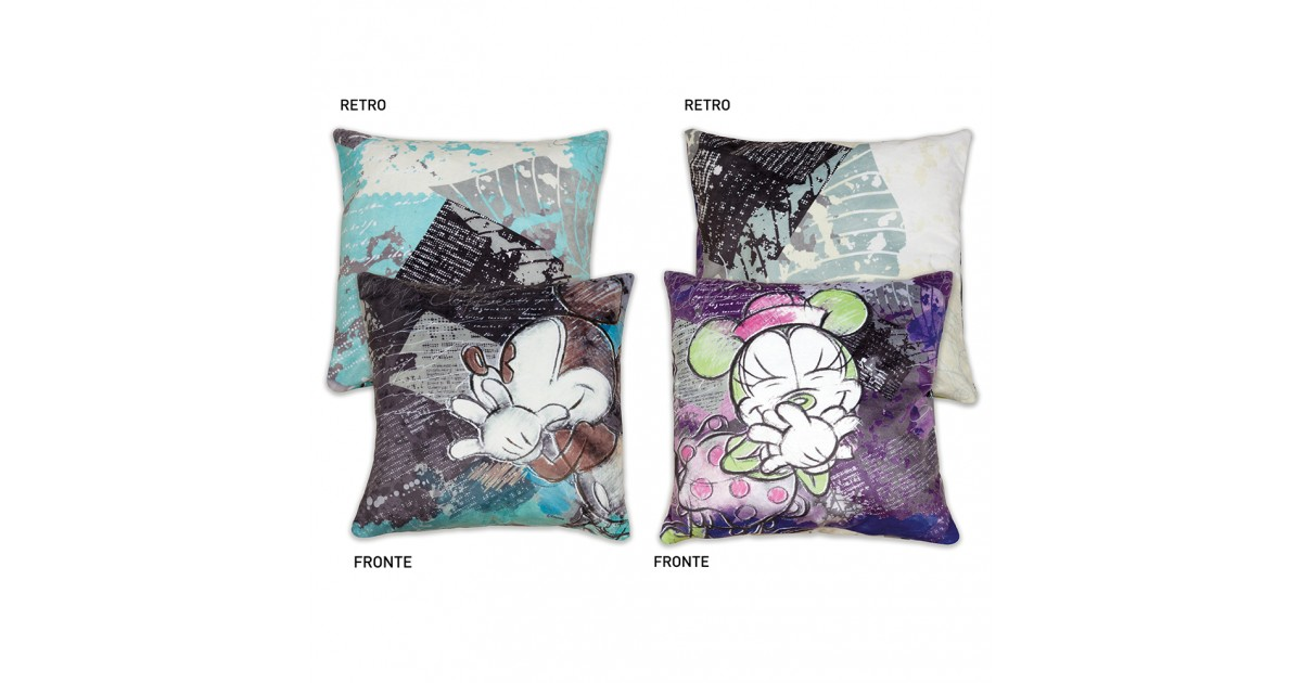 Pillow Blue or Violet - Mickey or Minnie