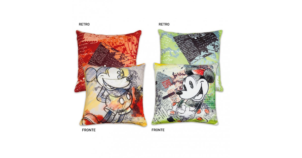 Pillow Green or Red - Mickey or Minnie