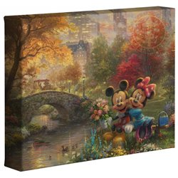Thomas Kinkade Central Park - Mickey & Minnie