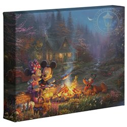 Thomas Kinkade Campfire - Mickey & Minnie