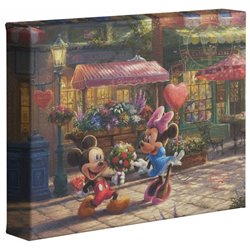 Thomas Kinkade Sweetheart Cafe - Mickey & Minnie
