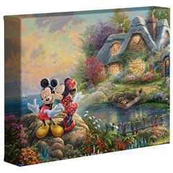 Thomas Kinkade Sweetheart Cove - Mickey & Minnie