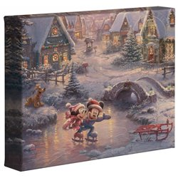 Thomas Kinkade Sweetheart Holiday - Mickey & Minnie