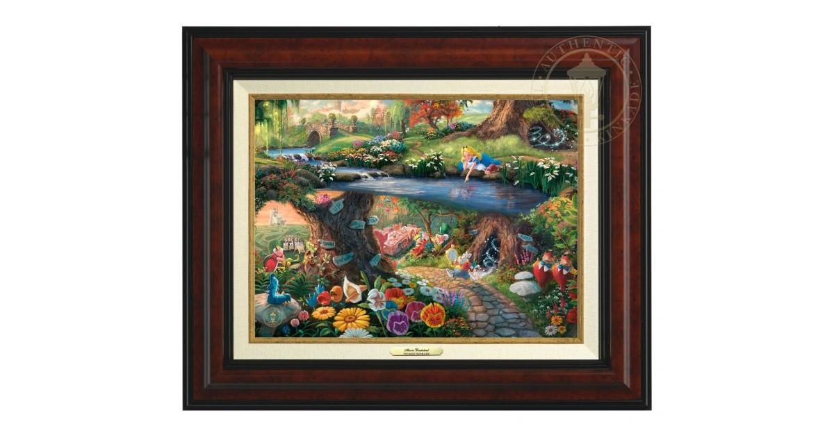 Thomas Kinkade Framed Art on Canvas - Alice
