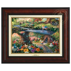 Thomas Kinkade Framed Art on Canvas - Alice