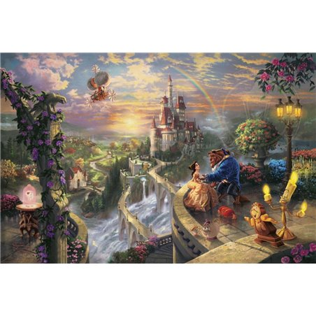 Thomas Kinkade Framed Falling in Love - Beauty & the Beast