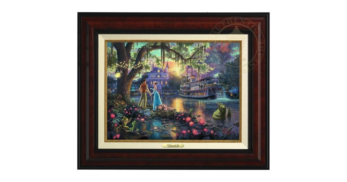 Thomas Kinkade Framed Art on Canvas - Princess & the Frog
