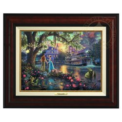 Thomas Kinkade Framed Art on Canvas - Princess & the Frog