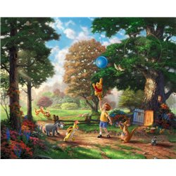 Thomas Kinkade Framed Art on Canvas - Winnie the Pooh