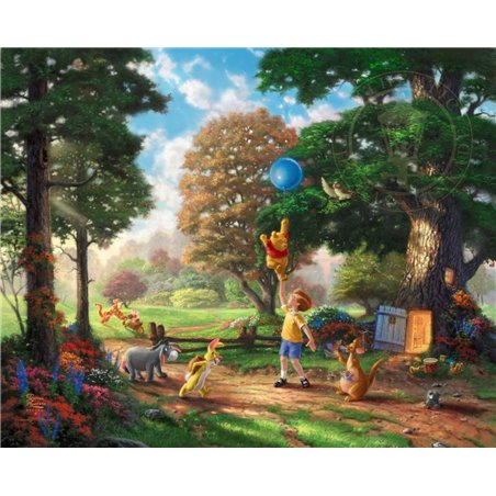 Thomas Kinkade Framed Art on Canvas - Winnie the Pooh
