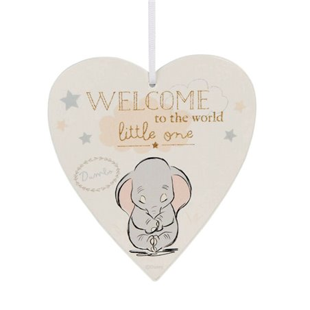 Magical Beginnings Heart Plaque Welcome to the World - Dumbo