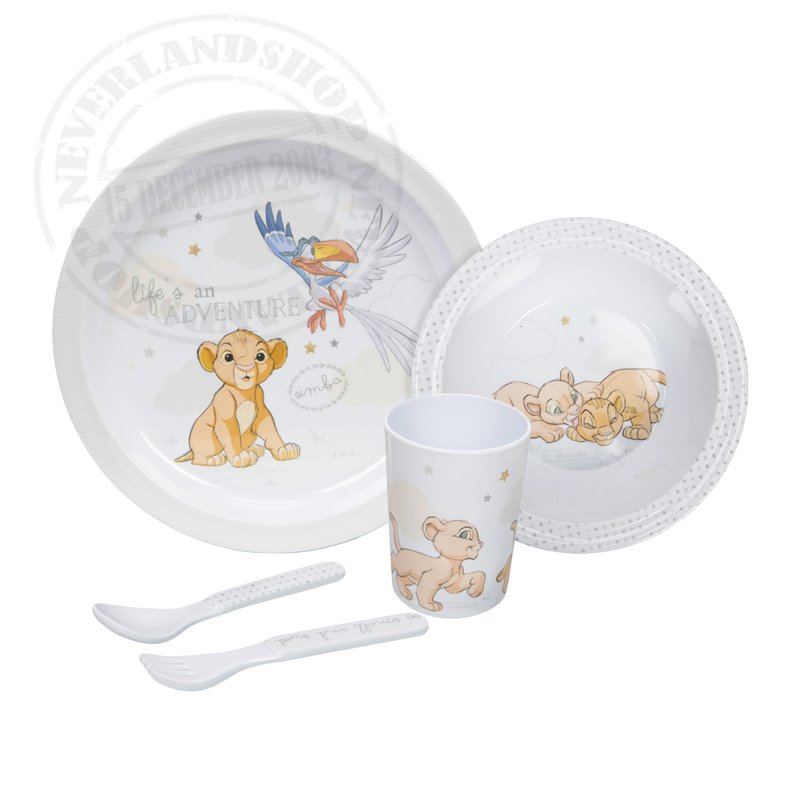 Magical Beginnings 5 Piece Melamine Crockery Set - Simba