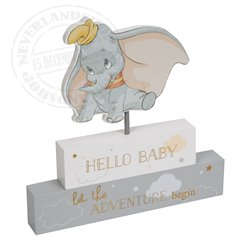 Magical Beginnings Mantel Block - 'Hello  Baby' - Dumbo