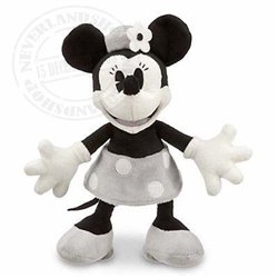 DisneyStore Plush B/W Small - Minnie