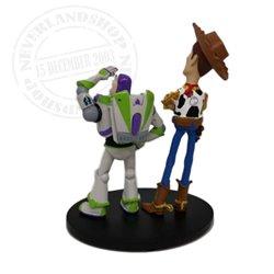 Klein Figuur Op Base - Buzz & Woody