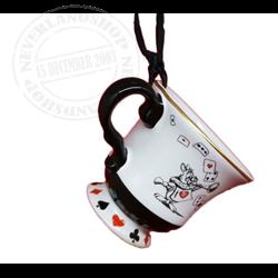 8909 Tea Time Cup Ornament - Alice