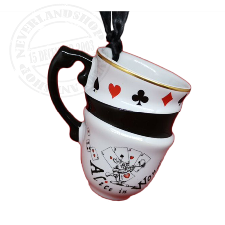 8907 Tea Time Stacked Mug  Ornament - Alice