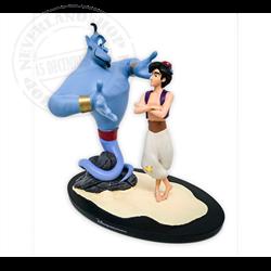 Klein Figuur Op Base - Aladdin & Genie