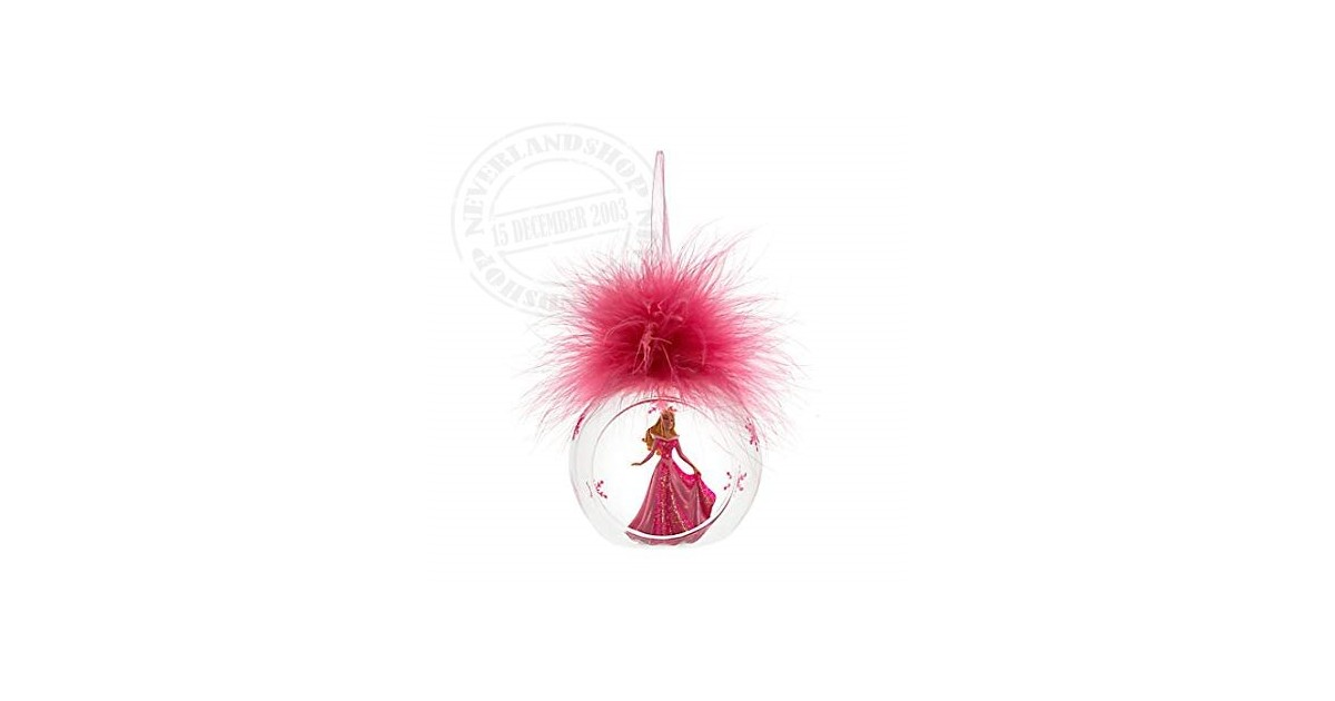 8351 3D Ornament  in open glazen bal - Aurora