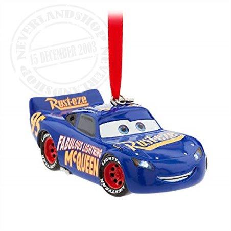 8593 3D Dangle Ornament Blue Light-Up - McQueen