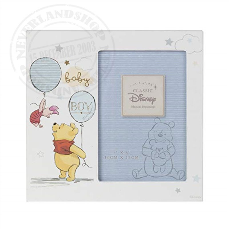 "Magical Beginnings Frame 4"" x 6"" BOY - Pooh & Piglet"