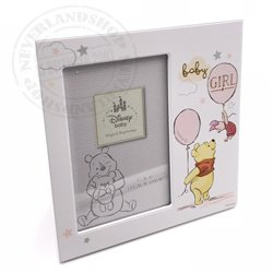 "Magical Beginnings Frame 4"" x 6"" GIRL - Pooh & Piglet"
