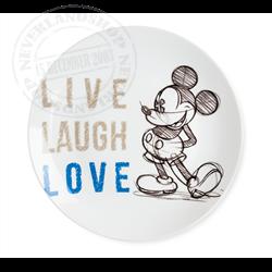 LLL 796 Dinner Plate Blue - Mickey