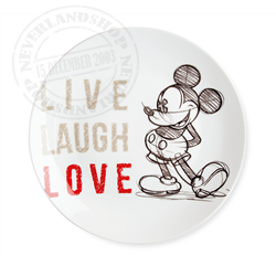 LLL 789 Dinner Plate Red - Mickey