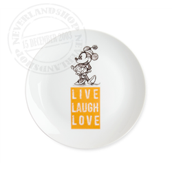 LLL 840 Dessert Plate Orange - Minnie