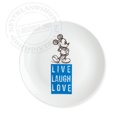 LLL 833 Dessert Plate Blue - Mickey