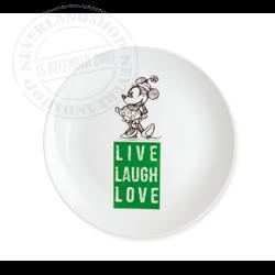 LLL 857 Dessert Plate Green - Minnie