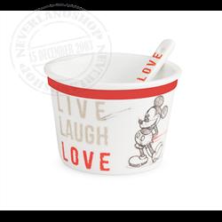 LLL 772 4 Ice Cream Cups + Spoon - Mickey & Minnie