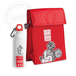 LLL 956 Set Water Bottle + Lunchbag - Mickey