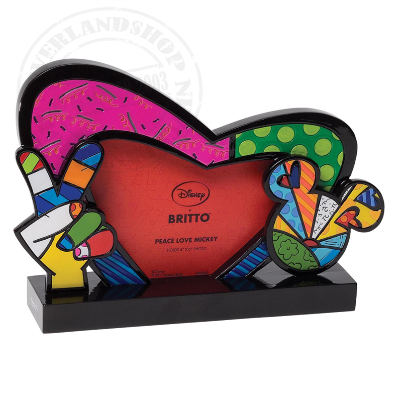 Fotoframe Peace, Love & By Britto -  Mickey