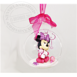 8928 - 3D Figuur in Bal 1st Christmas - Minnie
