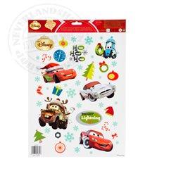 Raamstickers kerst  42x30cm  - Cars