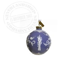Lila/White Ceramic Ornament - Rapunzel