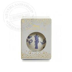 White/Lila Ceramic Ornament - Rapunzel
