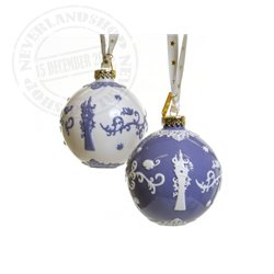 White/Lila Ceramic Ornament - Rapunzel