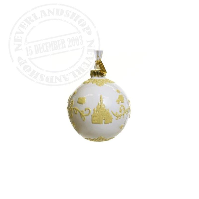 White/Yellow  Ceramic Ornament - Beauty & the Beast