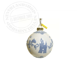 White/Lilac  Ceramic Ornament - Cinderella