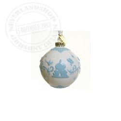 White /Blue Ceramic Ornament - Aladdin